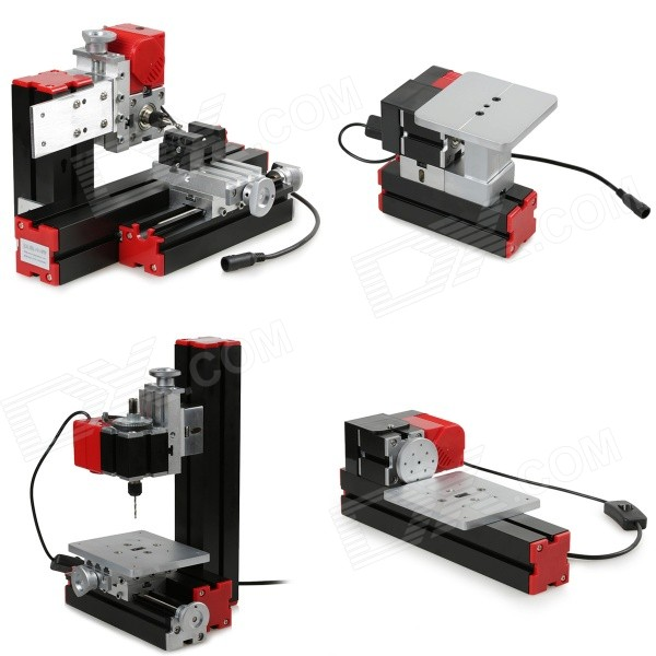 6-in-1 DIY Monitoiminen Mini Poraus / hionta / Turning / Milling Machine Tool Kit