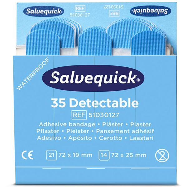 Salvequick 51030127 Blue Detectable Laastari