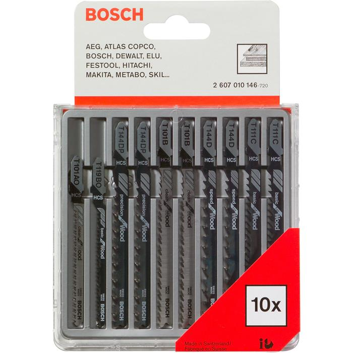 Bosch 2607010146 Plastic and Wood Pistosahanteräsarja 10 osaa