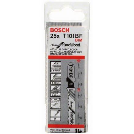 Bosch Clean for Hard Wood Pistosahanterä 100mm, 25 kpl
